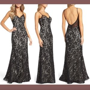 NEW Xscape Lace Embroidered Slipdress Gown